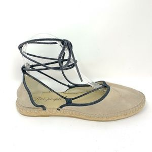 Free People Women's Gray Lace up Espradrilles